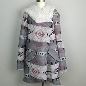 Me Jane south western wool coat XL